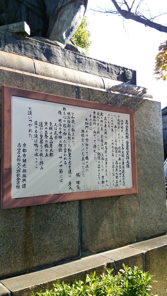 高山彦九郎先生皇居望拝の跡